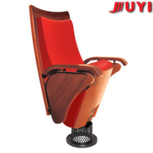 China Manufacture Powder Coating Steel Frame Fire Retardent Fabric Cover Padded Seats Church Chairs Price pictures & photos