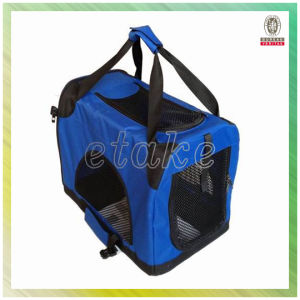 High Quality Side Open Waterproof Oxford Foldable Easy Transport Pet Bag Cute