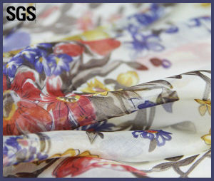 Digital Printing Silk Custom Printed Chiffon Fabric pictures & photos