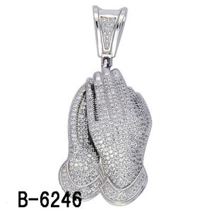 Hip Hop Jewelry Prayer Hand Pendant Silver 925 Factory Wholesale pictures & photos