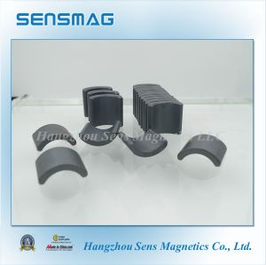 Manufacture Customized Permanent Arc Ferrite Magnet with RoHS pictures & photos
