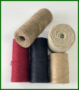 Dyed Jute Fiber Yarn (Black) pictures & photos