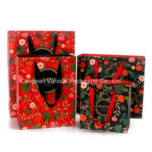 Printed Paper Bag for cosmetic Packing, Beauty Packaging Bag pictures & photos