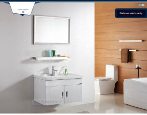 Factory Price Stainless Steel Hotel Bathroom Cabinet Vanity pictures & photos