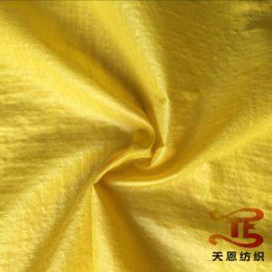 China Textile Fabric 100% Nylon Elastic Taffeta Fabric with Oil Cire for Down Jackets and Garment Fabric pictures & photos