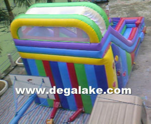 22′h Inflatable Rainbow Dual Lane Slide with Balloon Printing pictures & photos