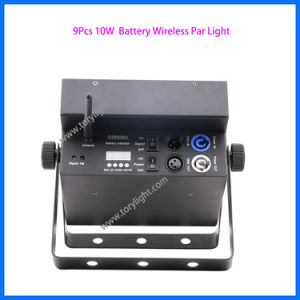 DMX 512 PAR 64 Stage Lighting 9PCS Battery LED Parcan pictures & photos