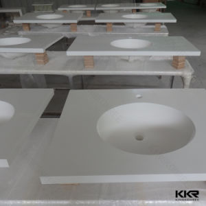 Custom Made Acrylic Solid Surface European Style Bathroom Vanity pictures & photos