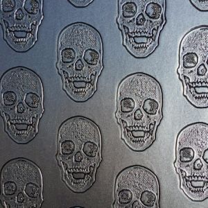 Skull Design PVC Leather for Cloth, Motor, Bag pictures & photos