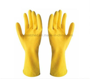 12 Inches Long Rubber Household Cleaning Latex Hand Gloves pictures & photos