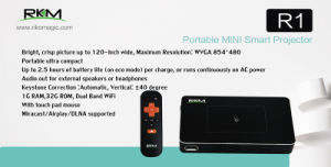 Smart Portable Mini LED Projector with Quad Core CPU pictures & photos
