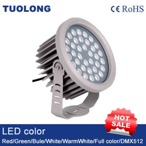 High Power 36W DMX RGB LED Flood Light Round Shape DC24V 36W Colorful LED Flood Light pictures & photos