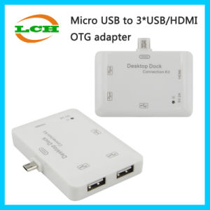 High Quality Mhl to HDMI+3USB Hub Adapter for Samsung pictures & photos