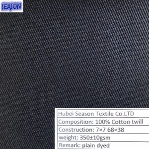 Cotton 7*7 68*38 350GSM Twill Woven Cotton Fabric Women Clothes Textile pictures & photos