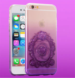 Latest Gradient Emboss Transparent Roses TPU Mobile Phone Case for iPhone 6/6 Plus Accessories (XSDD-024) pictures & photos