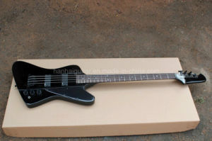 Hanhai Music/Black 4 Strings Electric Bass Guitar with Black Hardware pictures & photos