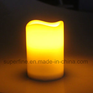 Recycling Crator Flameless Holiday Lighting Battery Operated Pillar LED Candles for Indoor Use pictures & photos