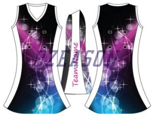 2017 New Designs Full Dye Sublimated Netball Uniforms (N001) pictures & photos