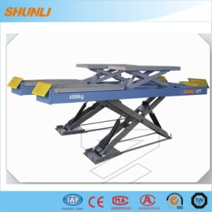 4500kg Ce Approvel on-Ground Double Level Scissor Lift for Wheel Alignment pictures & photos