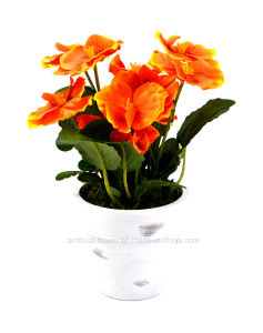 Colourful Artificial Pansy with Paper Mache Pot for Home/Office Decoration pictures & photos