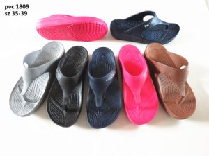 Men′s PVC Flip Flops Slipper Beach Sandal (YF-2112) pictures & photos