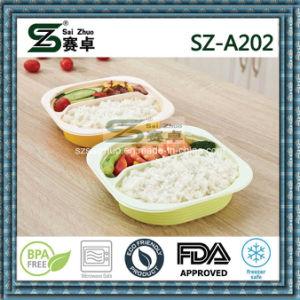 800ml 2 Compartment Ecofriendly Disposable Plastic Take Away Bento Box pictures & photos