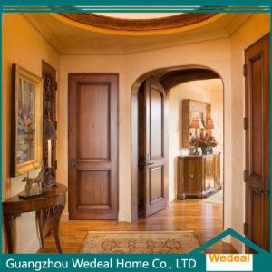 Two Panel Dark Brown Interior Solid Wooden Door pictures & photos