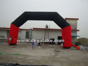 Red and Black Inflatable Arch for Commercial, for Advertising