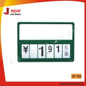 Supermarket A4 Plastic Price Tag Holder with Customized Size pictures & photos