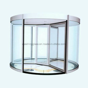 Customised Size Automatic Operation Curved Glass Sliding Door pictures & photos