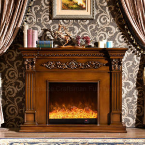 European Furniture LED Lights Wood Electric Fireplace with Heater (328B) pictures & photos