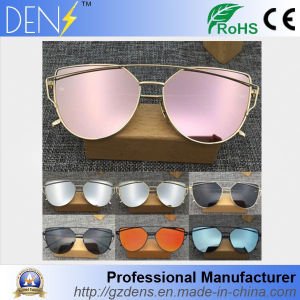 Cat Eyes Fashion Brand Sunglasses Metal Color Film Sunglasses pictures & photos