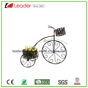 Metal Wheel Cart Flowerpots for Home and Garden Decoration pictures & photos