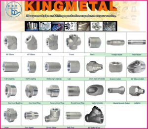 90deg A234 Wp12 Sch80 1inch Socket Welded Elbow pictures & photos