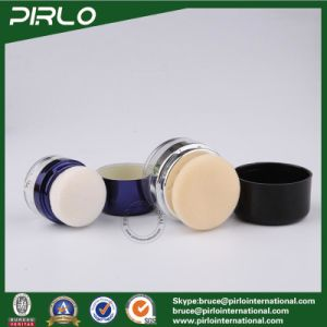 10g 20g Luxury New Design Plastic Powder Jar Cosmetic Blush Packing Jar with Powder Puff Make-up Empty Jar pictures & photos