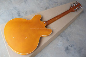 Hanhai Music/Semi-Hollow Yellow Retro Electric Guitar (ES-335) pictures & photos