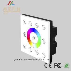 Wall-Mounted 12-24V DC 4 Zone RGBW 4CH DMX512 4CH LED Touch Panel Controller pictures & photos