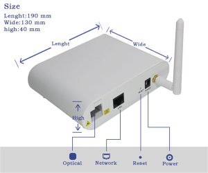 Gepon Epon ONU Optical Network Unit 1fe with WiFi pictures & photos