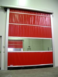 High Speed Stacking PVC Fold up Industrial High Speed Stacking Folding Door (Hz-HSD06) pictures & photos