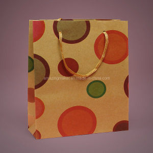 Lovely Printed & Recycled Eco-Kraft Euro Tote Bag (AM-PB005)