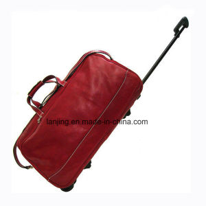 Tuscan Red Leather Travel Bag/ Luggage pictures & photos