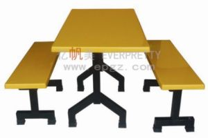 Restaurant Furntiure Factory Canteen Table and Bench Chairs Dt-04 pictures & photos
