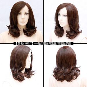 100pct Kk Fiber Hair Full Lace Wig Long Size pictures & photos