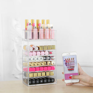 7 Layer Large Capacity Transparent Acrylic Cosmetic Lipstick Storage Box pictures & photos