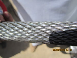 Ungalvanized Non-Roating Steel Wire Rope 19X7 pictures & photos
