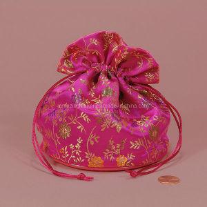 Patterned Satin Flat-Bottom Bag (AM-SB007)