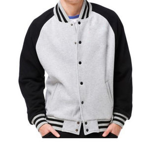 Men′s Cheap White and Black Fleece Jacket pictures & photos