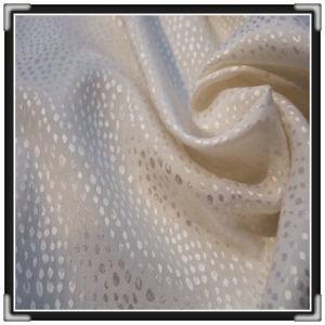 Silk Jacquard Satin Fabric (14366)