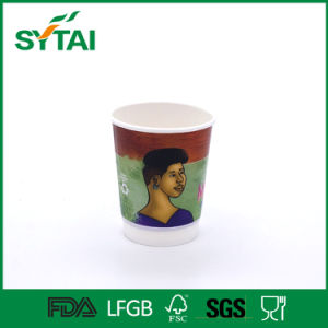 PE Coated Disposbale Flexo Printed Double Wall Paper Coffee Cup pictures & photos