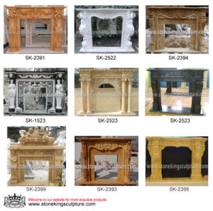 Hand Carved Marble Fireplace for Home Decoration pictures & photos